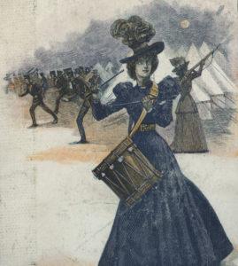 Cover of <em>The Revolt of Man</em> by Walter Besant, 1898.