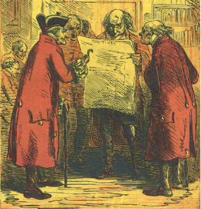 Cover of <em>The Veterans of Chelsea Hospital</em> by G.R. Gleig, 1857.